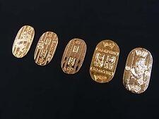 JAPANESE OMAMORI Good luck charm Economic fortune koban 5SET GOLD Type