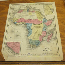 1853 Antique Color Smith Map / Africa