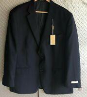 NWT Mens MICHAEL KORS Modern Fit Wool BLAZER NAVY Jacket / Coat Size 48 R