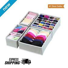 Drawer Storage Organizer Underwear Closet Divider Foldable Set Bra Socks Case