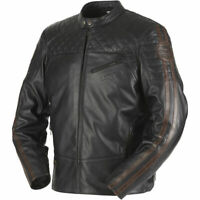 Furygan Legend Leather Motorcycle Motorbike Vintage Retro Style D3O Jacket Black