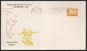 """SOCCER-COVER-ARGENTINA 1978-METER CANCEL""""MAR DEL PLATA """""""