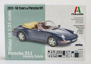 ITALERI 3679 PORSCHE 911 CARRERA CABRIO - 50 Jahre PORSCHE 911 - Neu