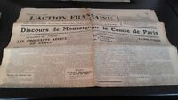 Diario Nacionalista ACCIÓN Francesa 12 Septembre 1934 N º 255 ABE