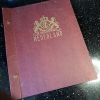 """BRIEFMARKENSAMMLUNG   """"NIEDERLANDE 1852 - 1965""""   321 Marken (nicht komplett) VD"""
