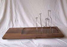 Design Vase aus edlem Nussholz für vier Blume