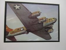 Boeing Fortress B 17  Model Airplane Box Top Art Color  artist older aircraft