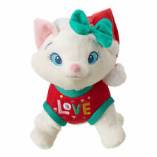 """Disney Store Authentic Winter Holiday Marie Aristocats 11"""" H Plush Toy Cat Doll"""