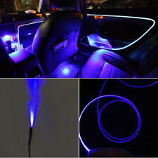 "157"" Cuttable Blue LED Light Guiding fiber Car Dash Door Decoration Lamp Strips"