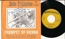 "BOB PILLETTE 45 TOURS 7"" BELGIUM I LOVE YOU MA CHERIE ***DEDICACé***"