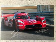 Nissan GT R LM Nismo 12x8 photo Le Mans 2015 signed Chilton Pla Mardenborough