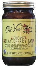 ORGANIC BLACKBERRY JAM  100% All Natural Amish Whole Fruit Spread USDA Certified