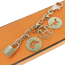 Authentic HERMES Vintage H Logos Key Holder Bag Charm Accessories NR10748f