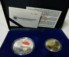 #858 Malaysia China Ping Pong World Cup Table Tennis Proof Set of 2 Silver Coin