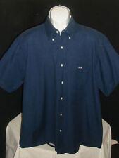 EDEN PARK NAVY BLUE BUTTON FRONT S/S 100% COTTON SHIRT SZ. XL