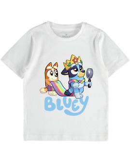 Bluey Bingo tshirt tee girls boys toddler tops name birthday gift kids clothes