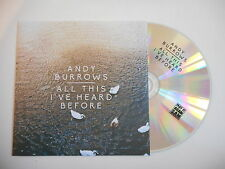 ANDY BURROWS : ALL THIS I'VE HEARD BEFORE [ CD PROMO ] ~ PORT GRATUIT