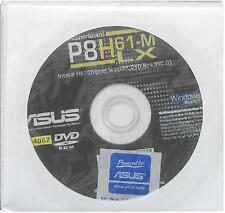 original asus Mainboard Treiber CD DVD P8H61-M LX Windows 7 Vista WIN XP Sticker