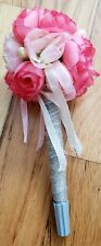 Wedding reception pen silver with flower