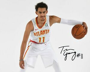Trae Young photo picture atlanta Signed 8x10 Photo reprint atl hawks ice trae