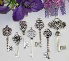 14PCS Mixed Lots of Tibetan Silver Key Charm Pendants #22466