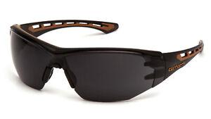 Carhartt Easley Gray/Smoke ANTI FOG Lenses Safety Glasses Sunglasses Z87+