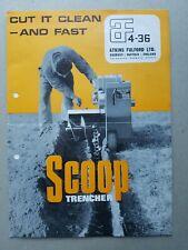 AF 4-36 Scoop Trencher 4pg Leaflet /Brochure & 3pg quotation July 1967 Rare??