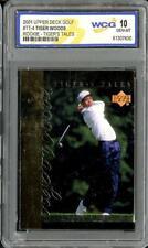 New listing 2001 Upper Deck Golf Tiger Woods RC Rookie Tigers Tales WCG 10 Gem Mint #TT-4