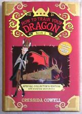 HOW TO TRAIN YOUR DRAGON ~ BK 1 ~ COLLECTOR'S ED ~ POSTER ON BACKSIDE OF DJ NEW!