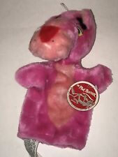 Vintage PINK PANTHER 1980 Pink Stuffed Plush HAND PUPPET Mighty Star Tags