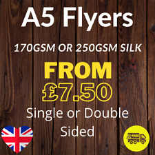 More details for a5 flyers leaflets printed full colour 170gsm or 250gsm silk 148mm x 210mm