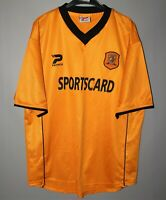 HULL CITY ENGLAND 2001/2002 HOME FOOTBALL SHIRT JERSEY PATRICK SIZE M ADULT
