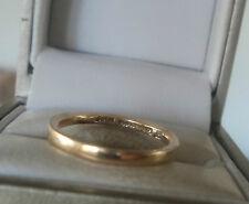 UNUSUAL 9ct Yellow Gold Wedding Band Ring h/m 1944 with Utility Mark - size K