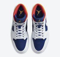 Nike Air Jordan 1  Royal Blue And Laser Orange Size 10 Men's 554724-131