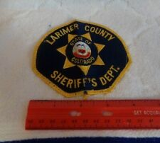 Larimer County Sheriff's Department State of Colorado Patch USED