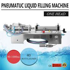 Pneumatische flüssige Abfüllmaschine 90-1000ML Edelstahl Shampoo Priming