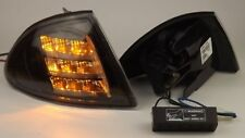 FRONT INDICATOR KIT LED for BMW E46 (Soda, 98-01), in Clear Glass Black