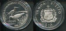 SAMOA 1992 - 10 Tala in Silber, PP - Wildlife VÖGEL Borstenbrachvögel