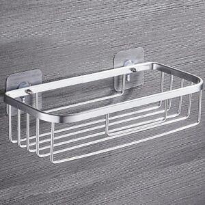 Non-rust Aluminum Alloy Bathroom Shower Shelf Storage Rack Suction Basket Tidy