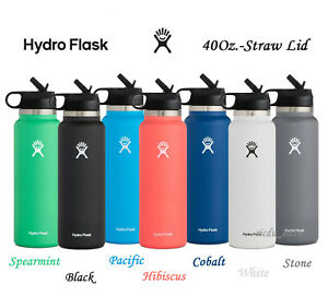 Hydro Flask 40Oz Water Bottle with Straw Lid, Wide Mouth, 2.0 New Design