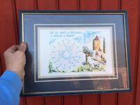 tableau reproduction les 32 vents de Provence au Moulin de Daudet