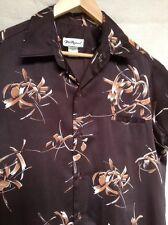 Tori Richard 70's Vtg Abstract Polyester Hawaiian Shirt Size Large Floral Disco