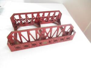 LIONEL STANDARD GAUGE #270 RED METAL BRIDGE -  FAIR - M7
