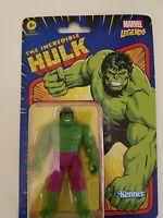 "Marvel Legends Retro Kenner Hasbro Action Figure 3.75"" HULK 2021"