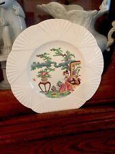 Antique Vintage Wedgewood Plates Geisha Etruria England Fans X 2