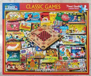 "White Mountain CLASSIC GAMES #1438 Jigsaw Puzzle 550 pc 18""x24"" 2018 Lois Sutton"