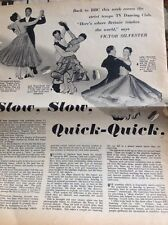 L1-7 Ephemera 1956 2 Page Article Bbc Dancing With Victor Sylvester