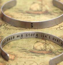 Semi Colon Bracelet Because My Story Isn't Over Yet ;UK Mental Health Awareness