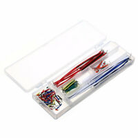 140x Solderless Breadboard Jumper Cable Wire Kit Box Shield 22 AWG For Arduino B