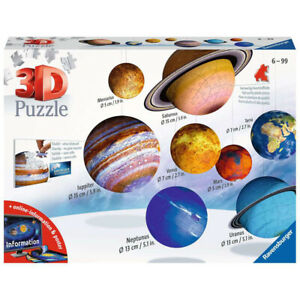 Ravensburger Planetary Solar System 3D Puzzle (522 Piece) NEW